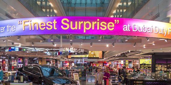 迪拜国际机场T3航站楼A出发区(综合购物区店) Concourse?A(Dubai?Duty?Free?Shopping?Complex Panshot)