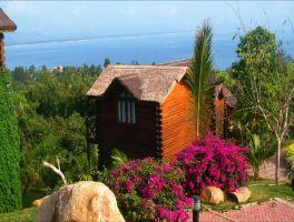 三亚蜈支洲岛珊瑚酒店木屋-海韵木楼+双人往返门船票