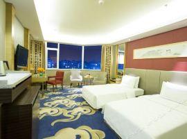 泰安蓝海御华大饭店(高级双床房+双人泰山温泉城门票
